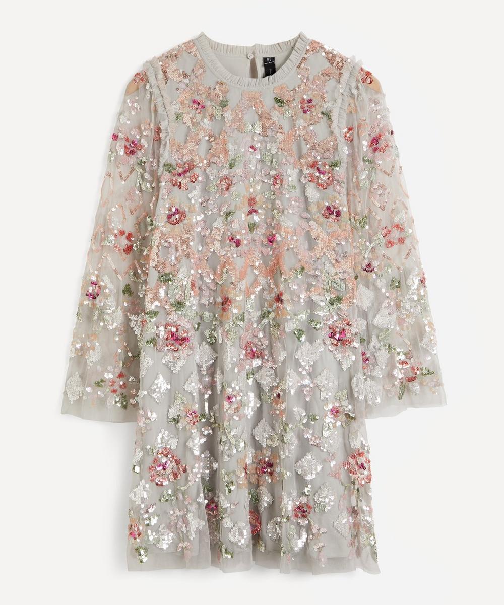 Needle & Thread - Harlequin Rose Sequin Embellished Mini-Dress
