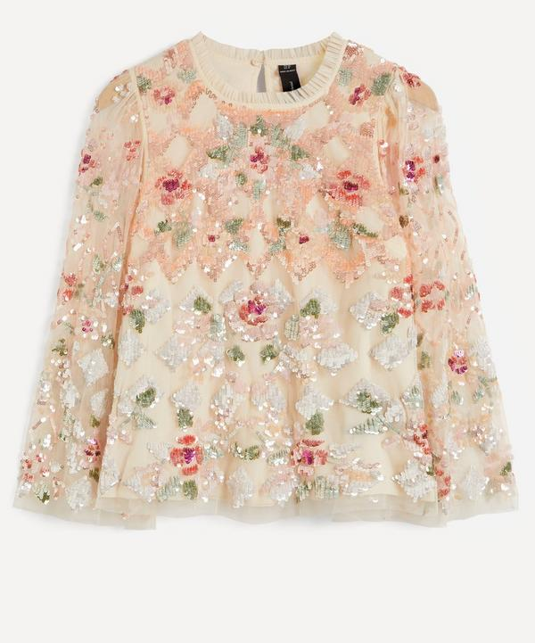 Needle & Thread - Harlequin Rose Sequin Top
