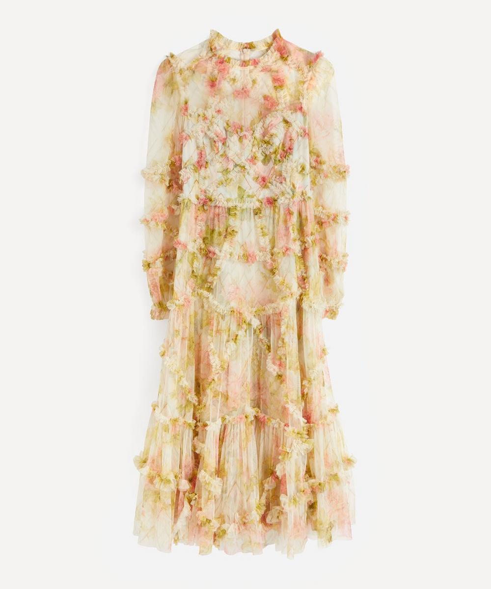 Needle & Thread - Harlequin Rose Ruffle Midi-Dress