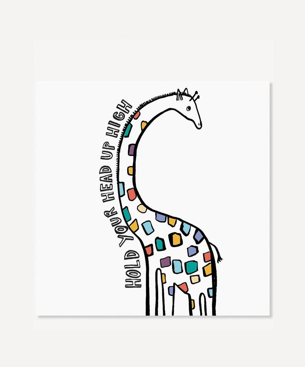 Karin Akesson - Hold Your Head Up High Giraffe Print