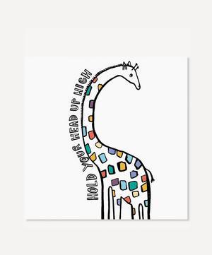 Hold Your Head Up High Giraffe Print
