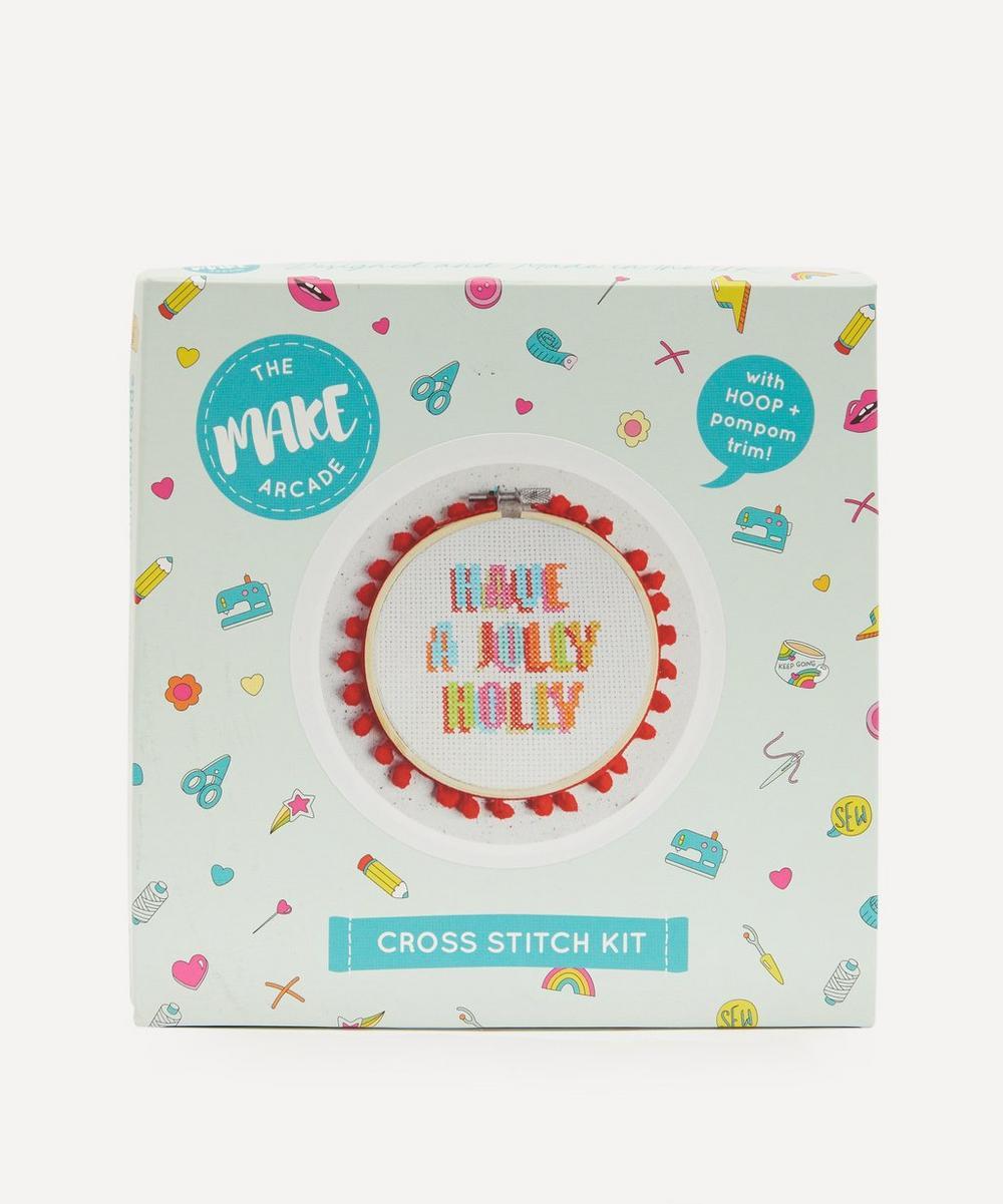 The Make Arcade - Jolly Holly Cross Stitch Kit