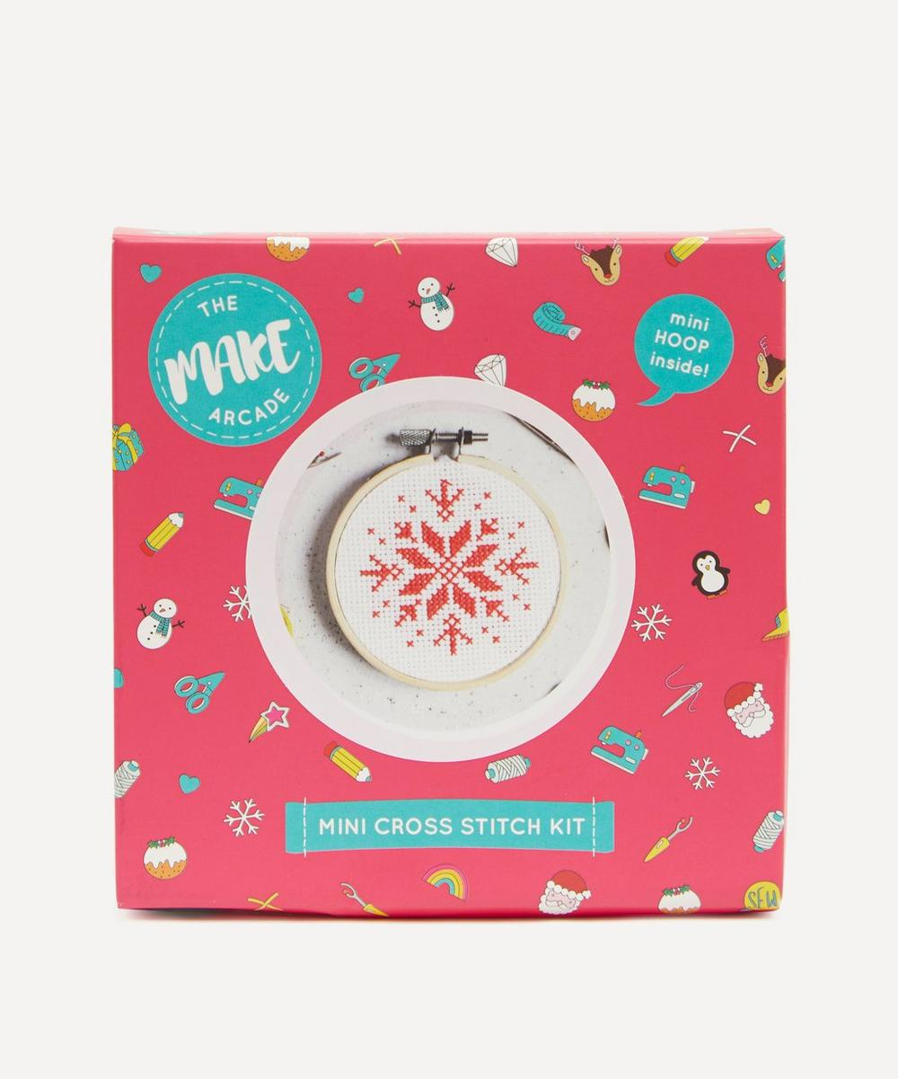 The Make Arcade - Snowflake Mini Cross Stitch Kit
