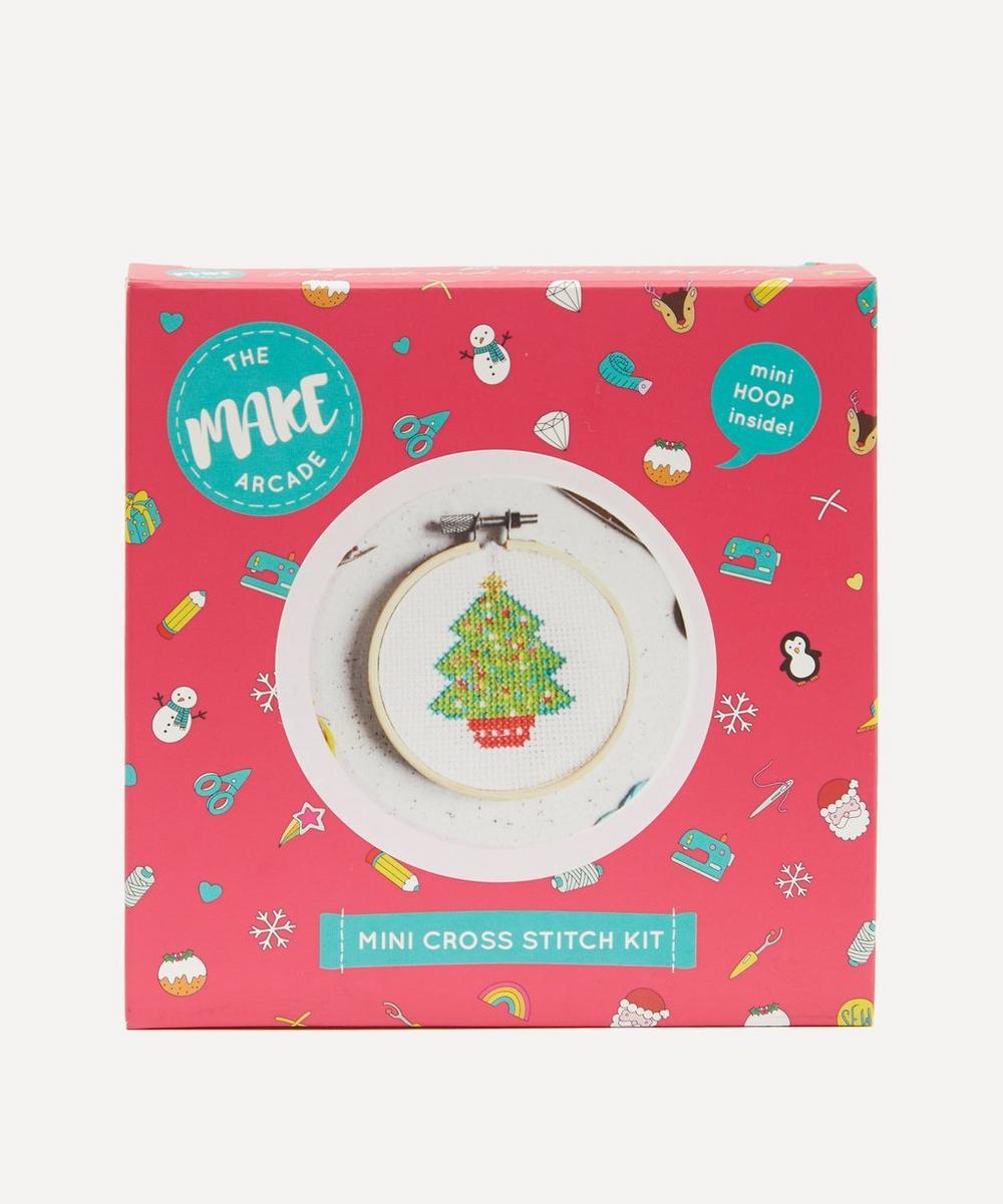 The Make Arcade - Christmas Tree Mini Cross Stitch Kit