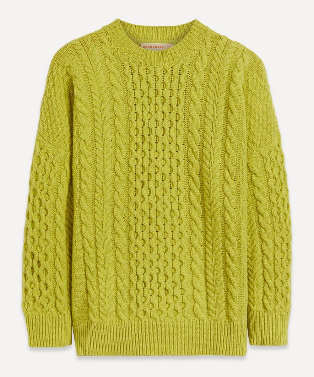 &Daughter - Aran Wool Crew-Neck Jumper