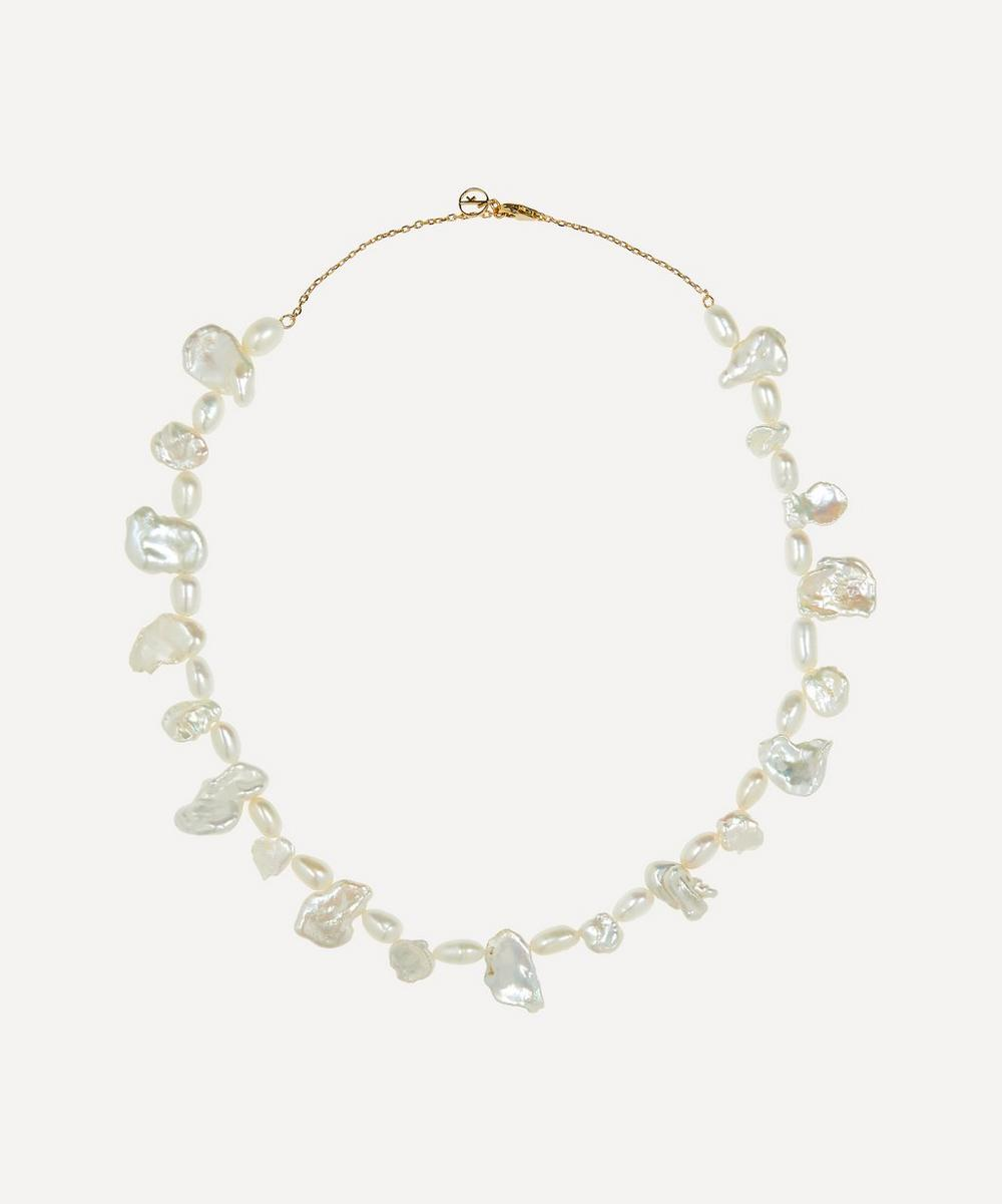 Anissa Kermiche - Gold-Plated Shelley Pearl Necklace
