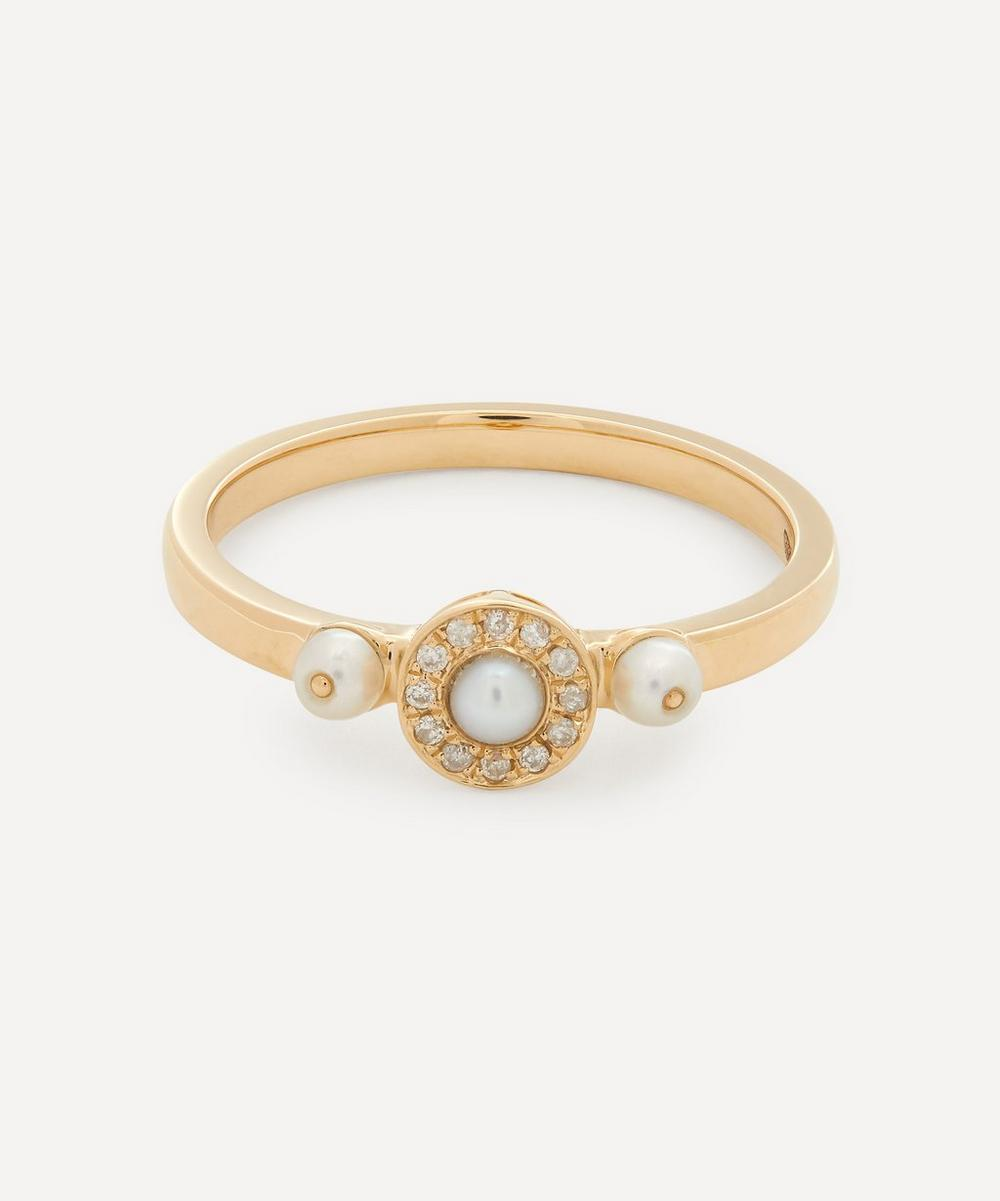 Anissa Kermiche - Gold Mignonne Pearl and Diamond Ring
