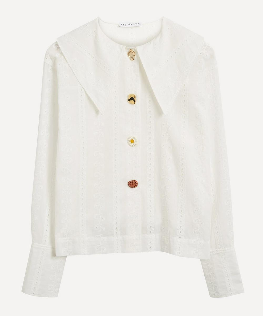 Rejina Pyo - Elliot Oversized Button-Detailed Cotton Broderie Anglaise Shirt