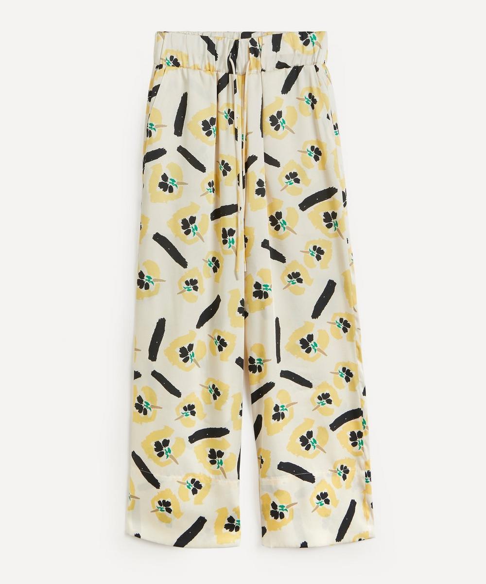 Rejina Pyo - Andi Floral Satin Twill Trousers