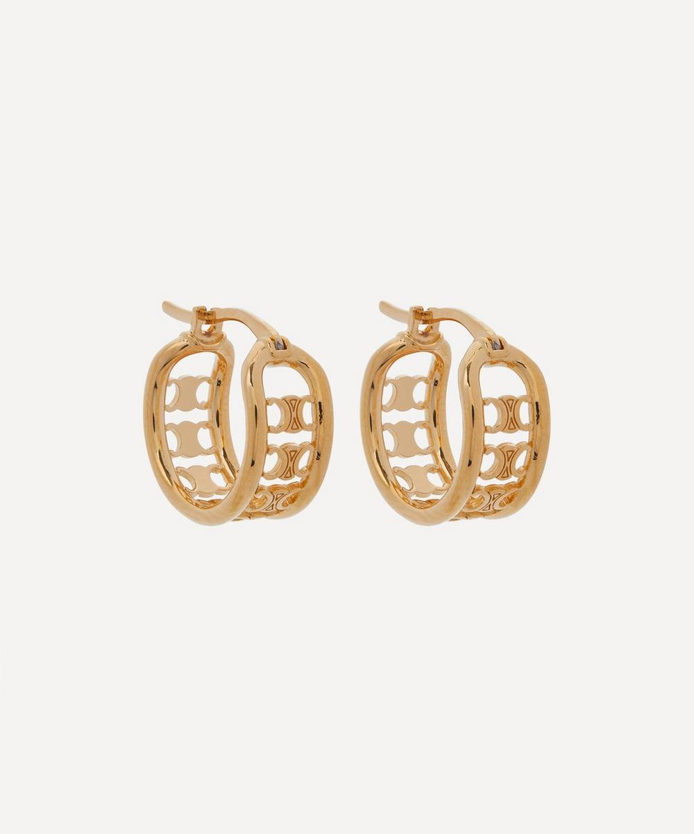 Celine - Gold-Tone Maillon Triomphe Multi Hoop Earrings