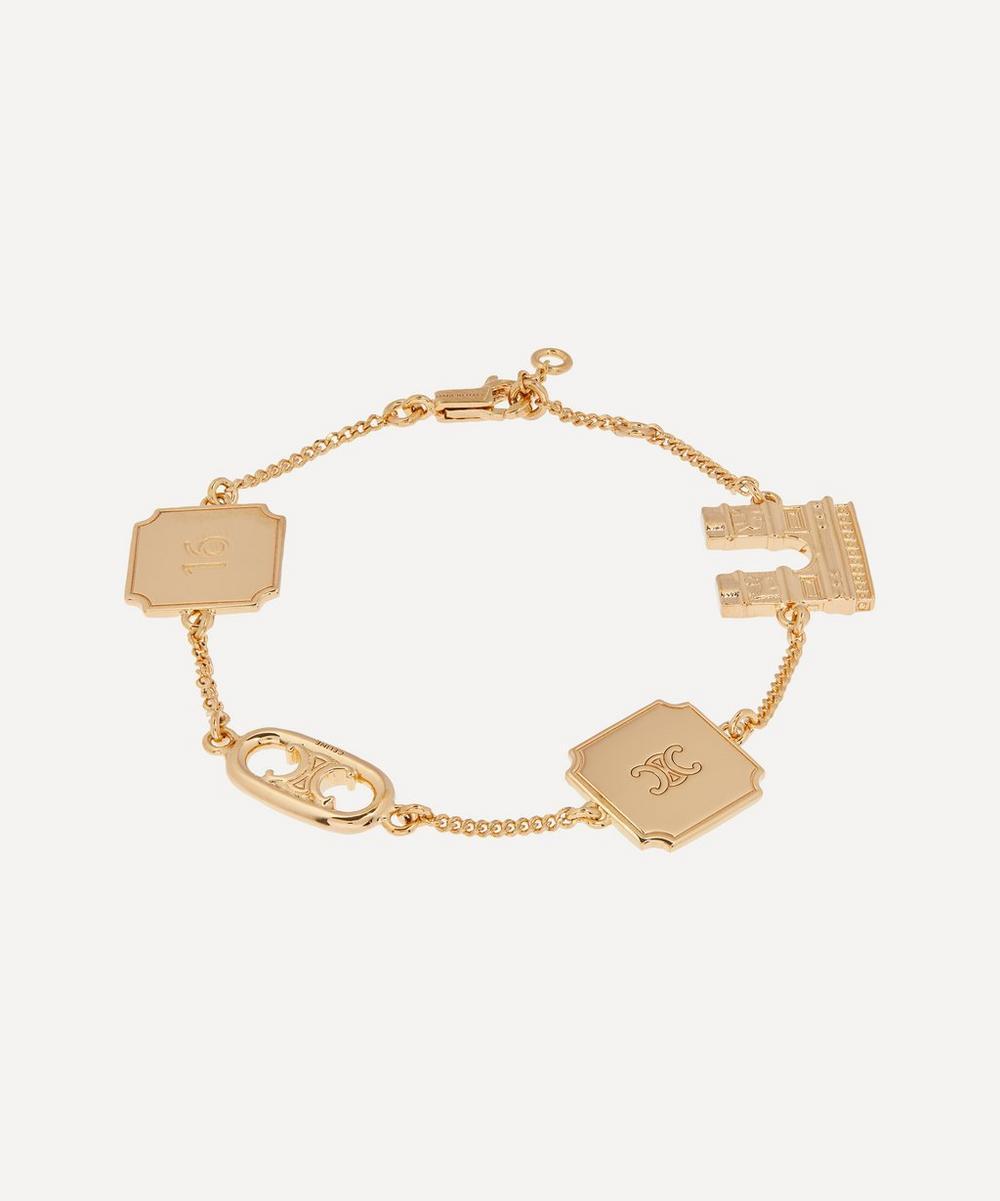 Celine - Gold-Tone Maillon Triomphe Signature Charm Bracelet