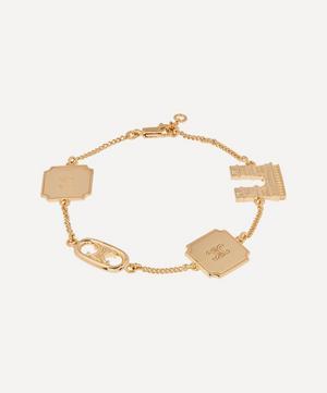 Gold-Tone Maillon Triomphe Signature Charm Bracelet