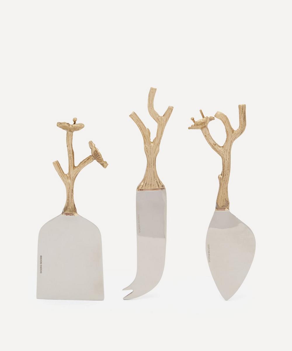 Doing Goods - Ava Blossom Cheese Knives Set of Three