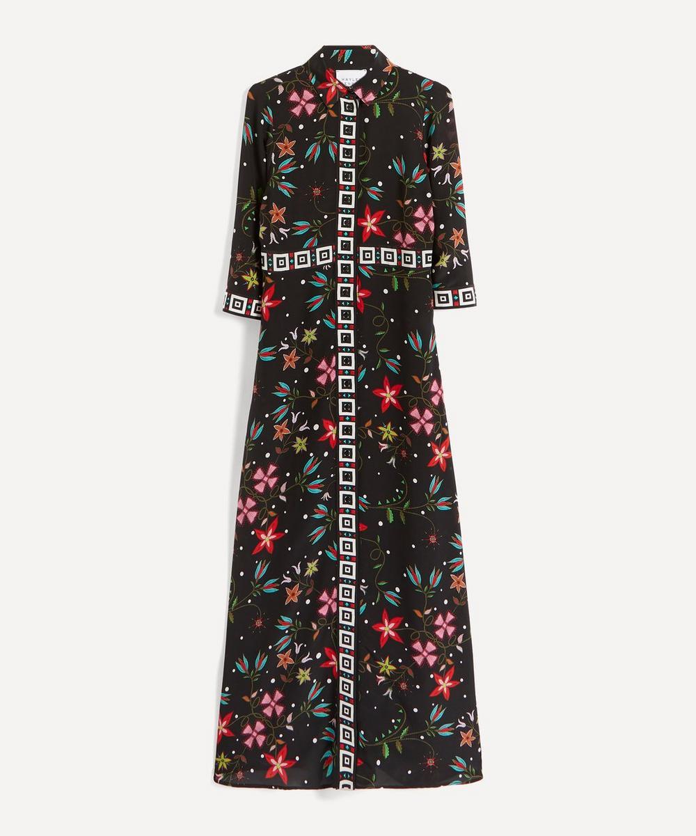 Hayley Menzies - Flower Print Silk Maxi-Dress