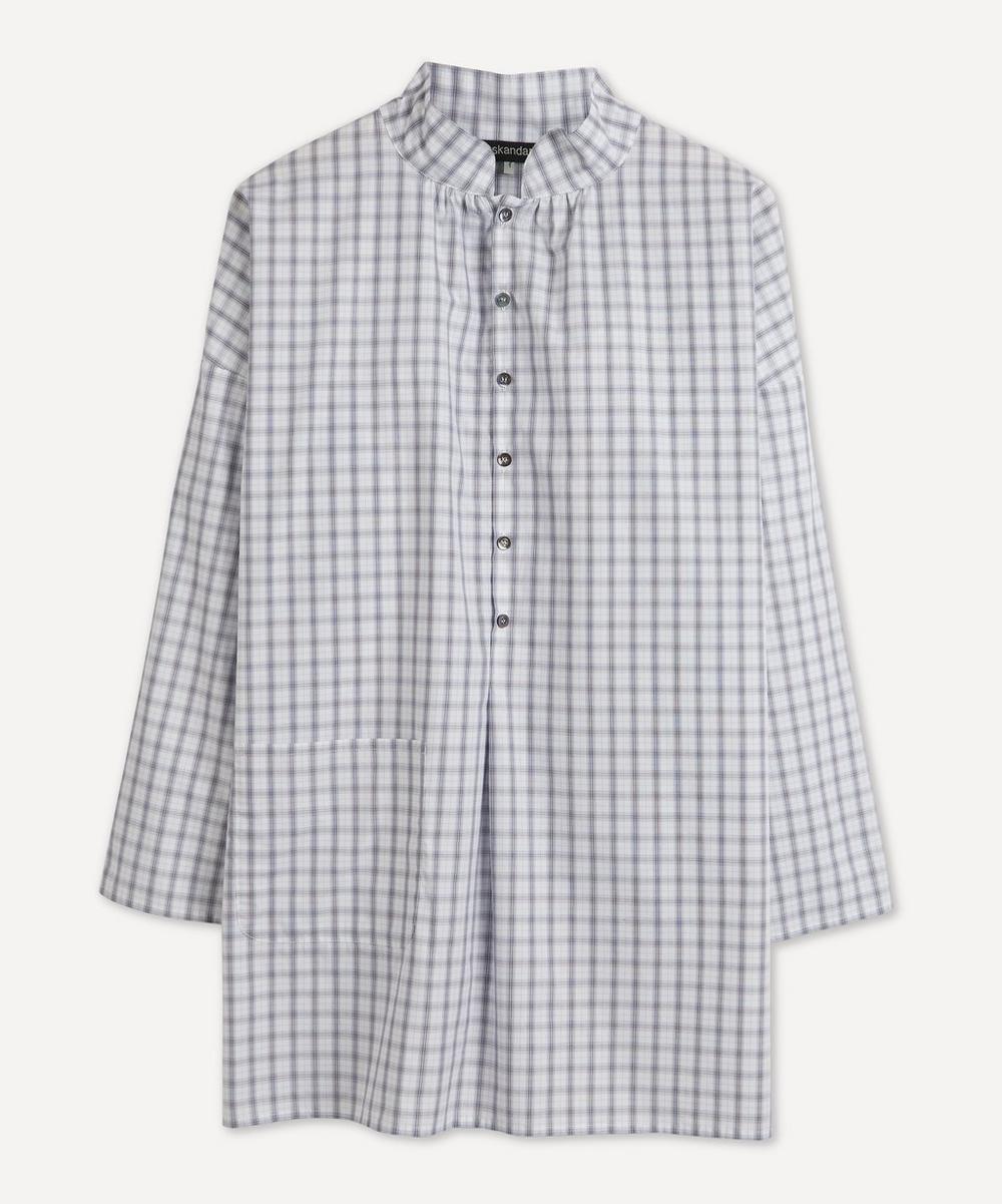 Eskandar - Sloped Shoulder Check Shirt