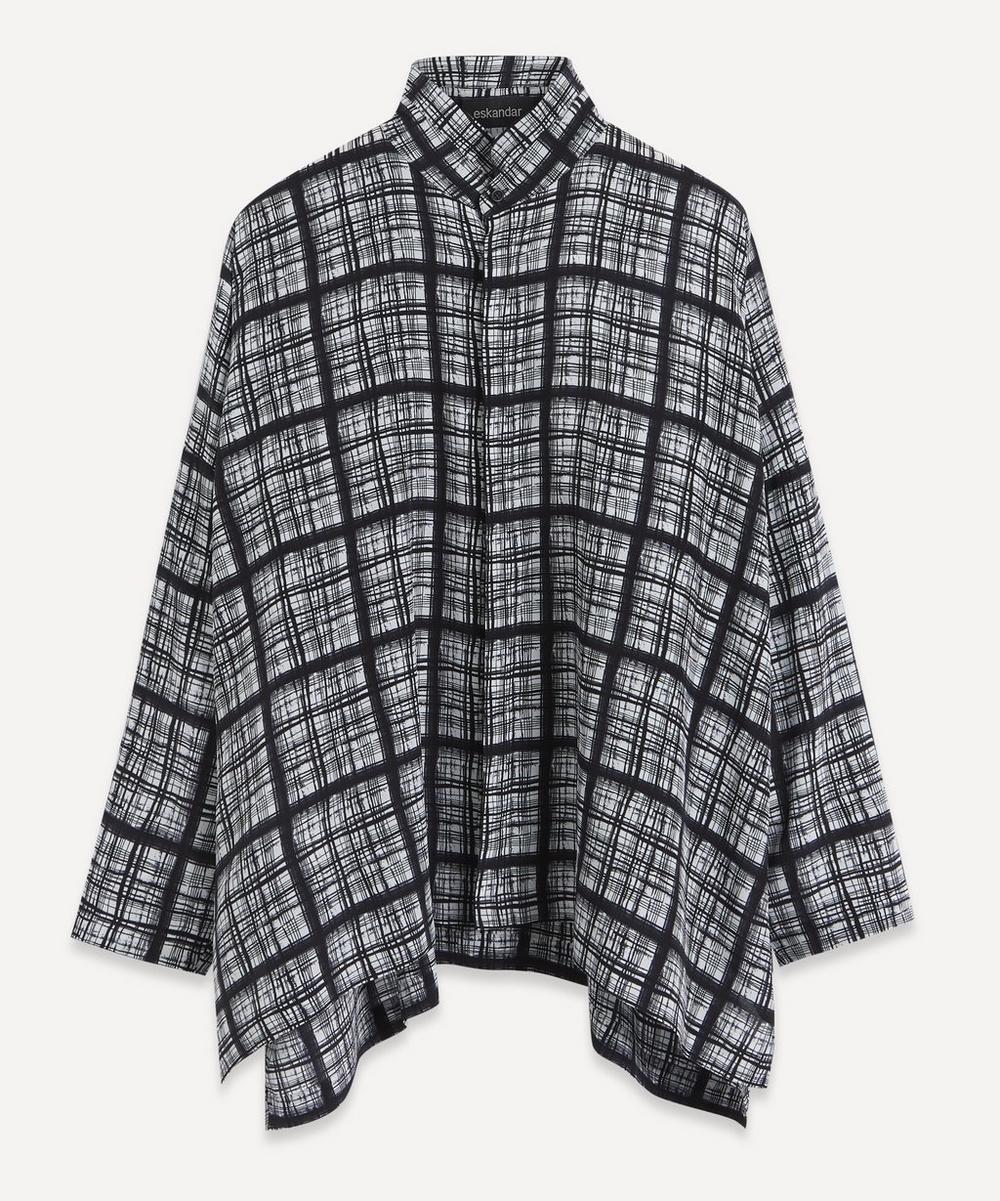 Eskandar - Stand Collar Wide Back Silk Shirt