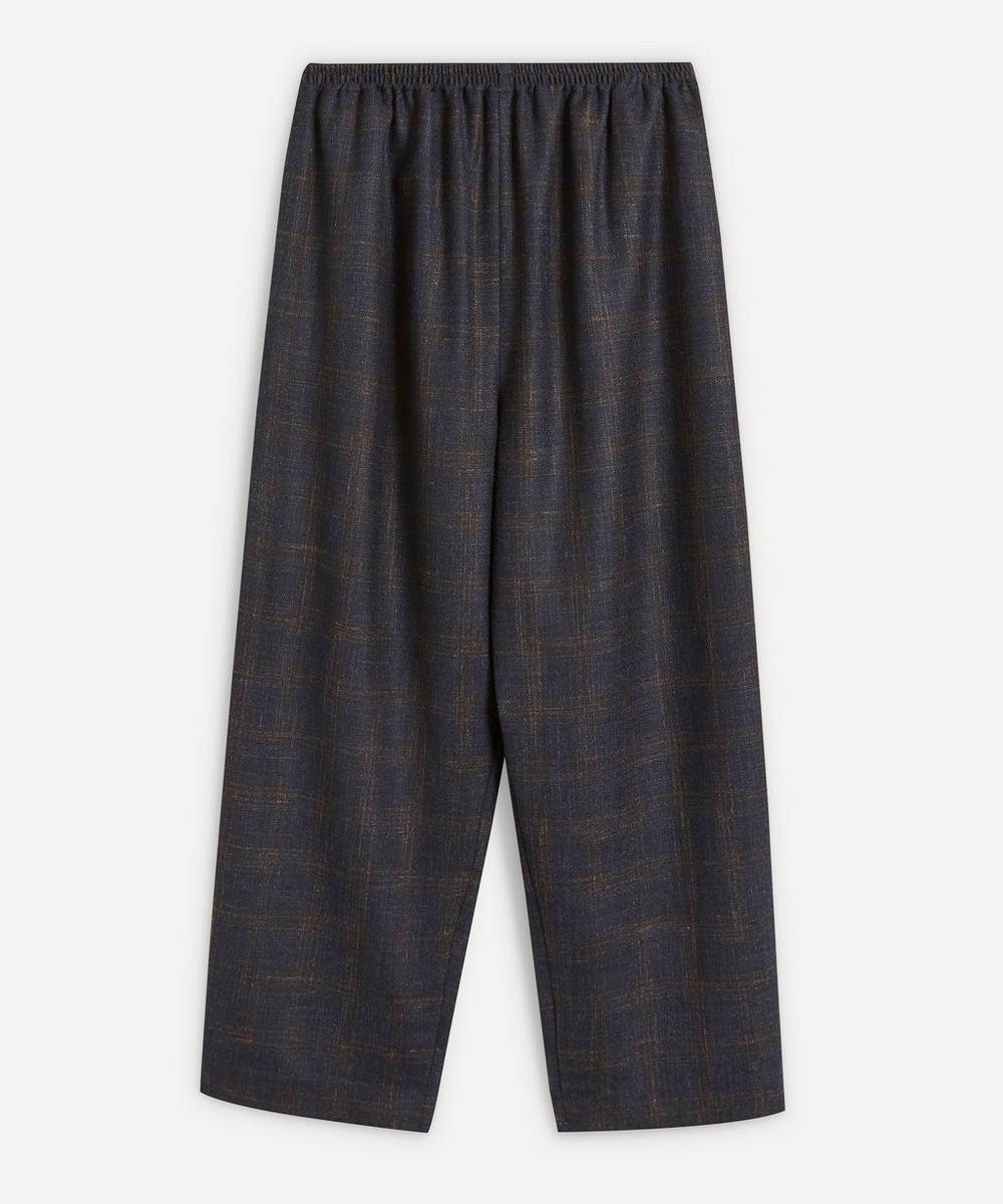 Eskandar - Japanese-Style Checked Trousers