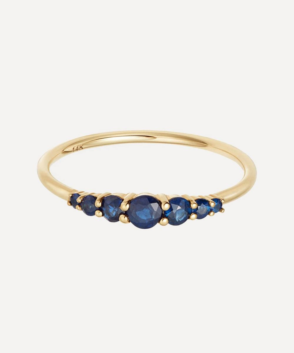 Astley Clarke - Gold Blue Sapphire Stacking Ring