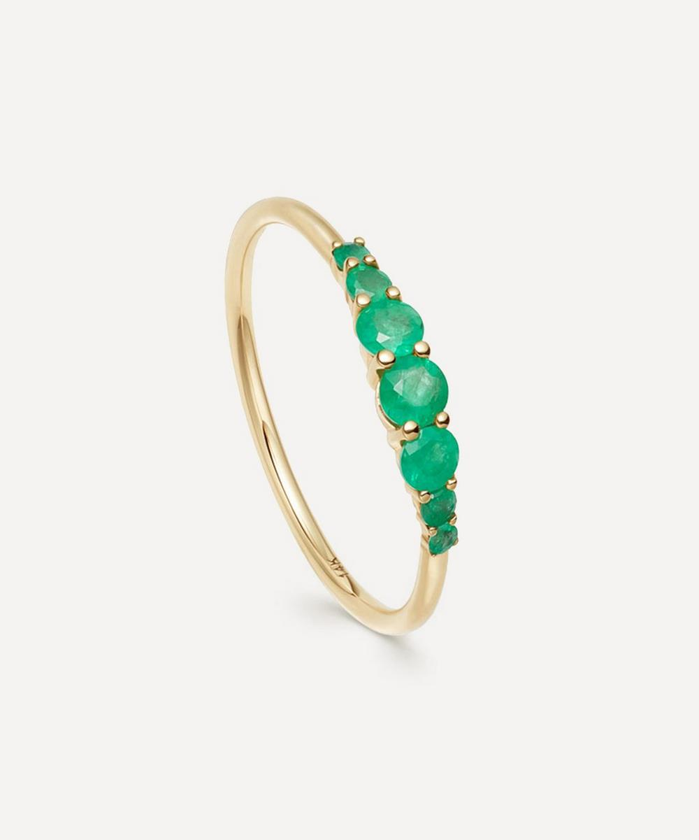 Astley Clarke - Gold Emerald Stacking Ring