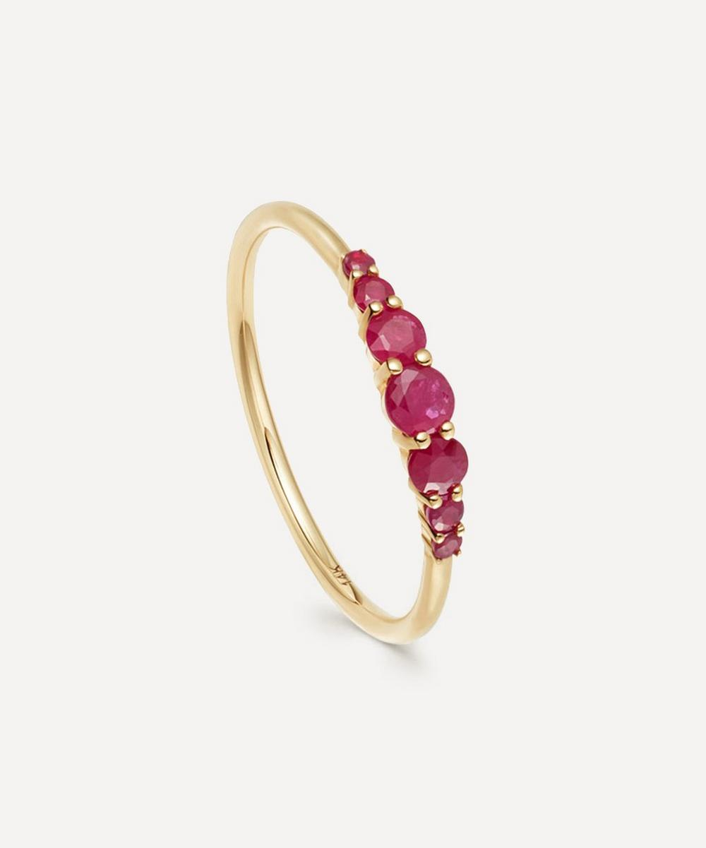 Astley Clarke - Gold Ruby Stacking Ring