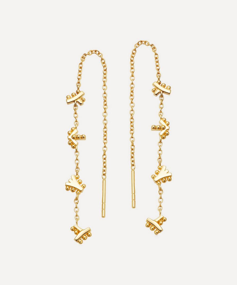 Astley Clarke - Gold Plated Vermeil Silver Solstice Chain Drop Earrings