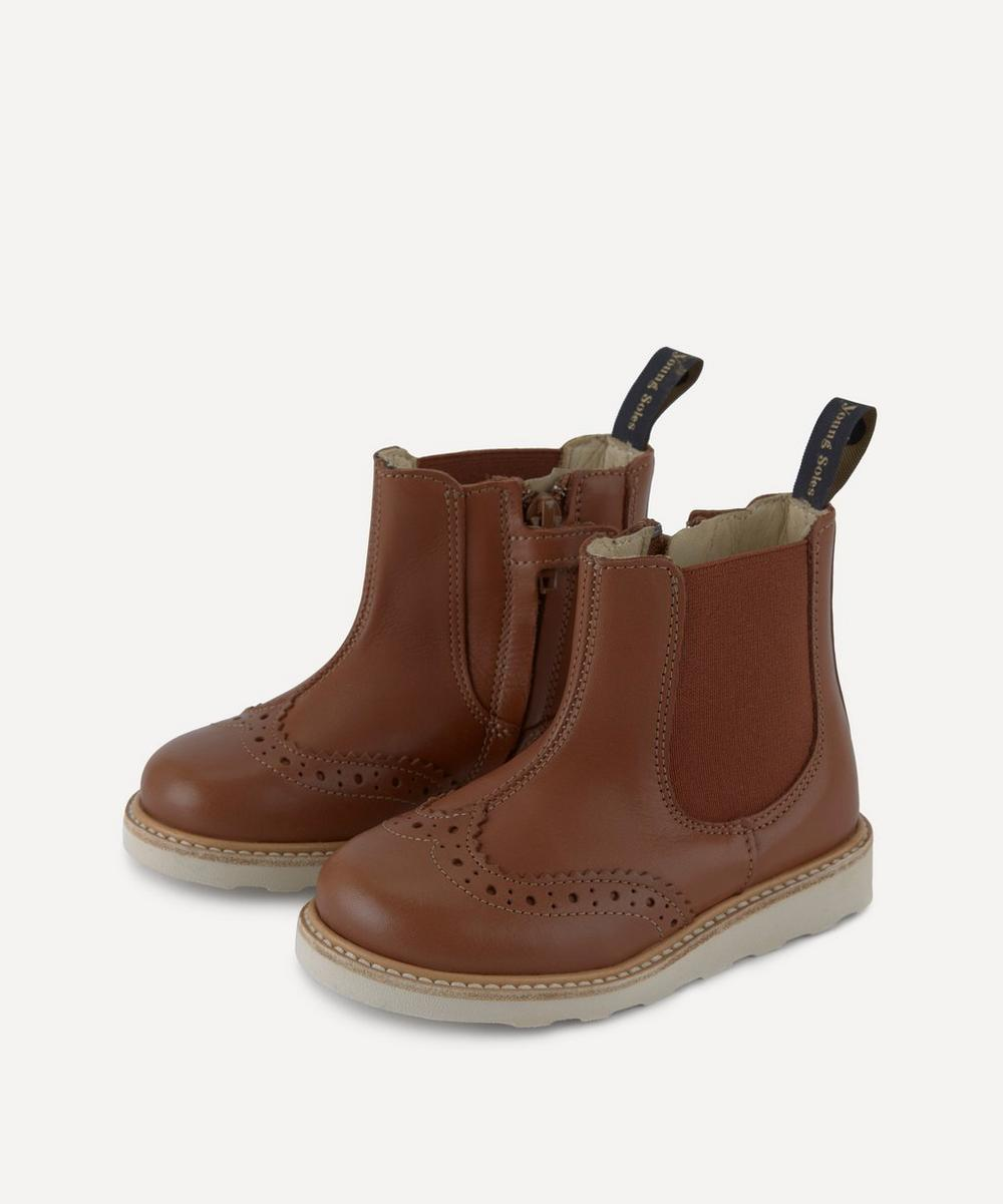 Young Soles - Francis Chestnut Chelsea Boots Size 20-25