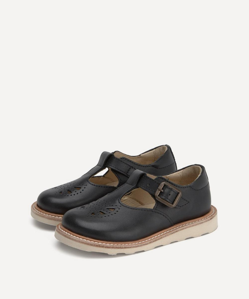 Young Soles - Rosie Black T-Bar Shoes Size 20-25