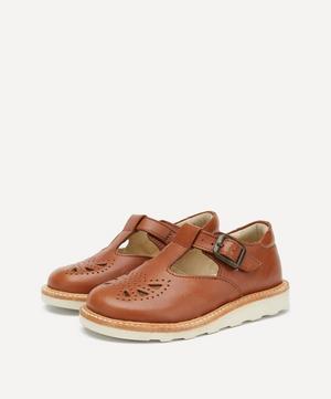 Rosie Chestnut Brown T-Bar Shoes Size 26-30