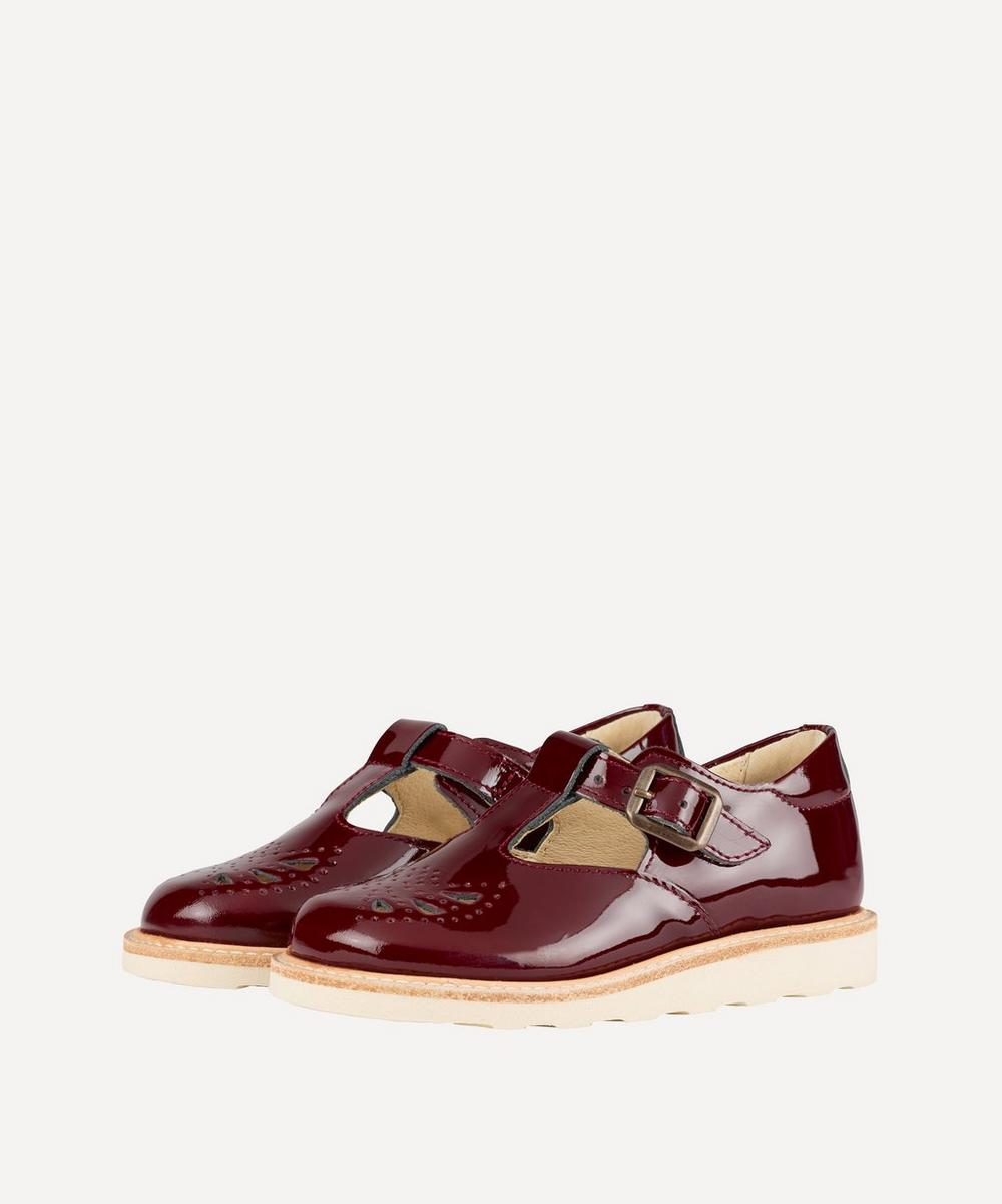 Young Soles - Rosie T-Bar Cherry Patent Shoes Size 20-25