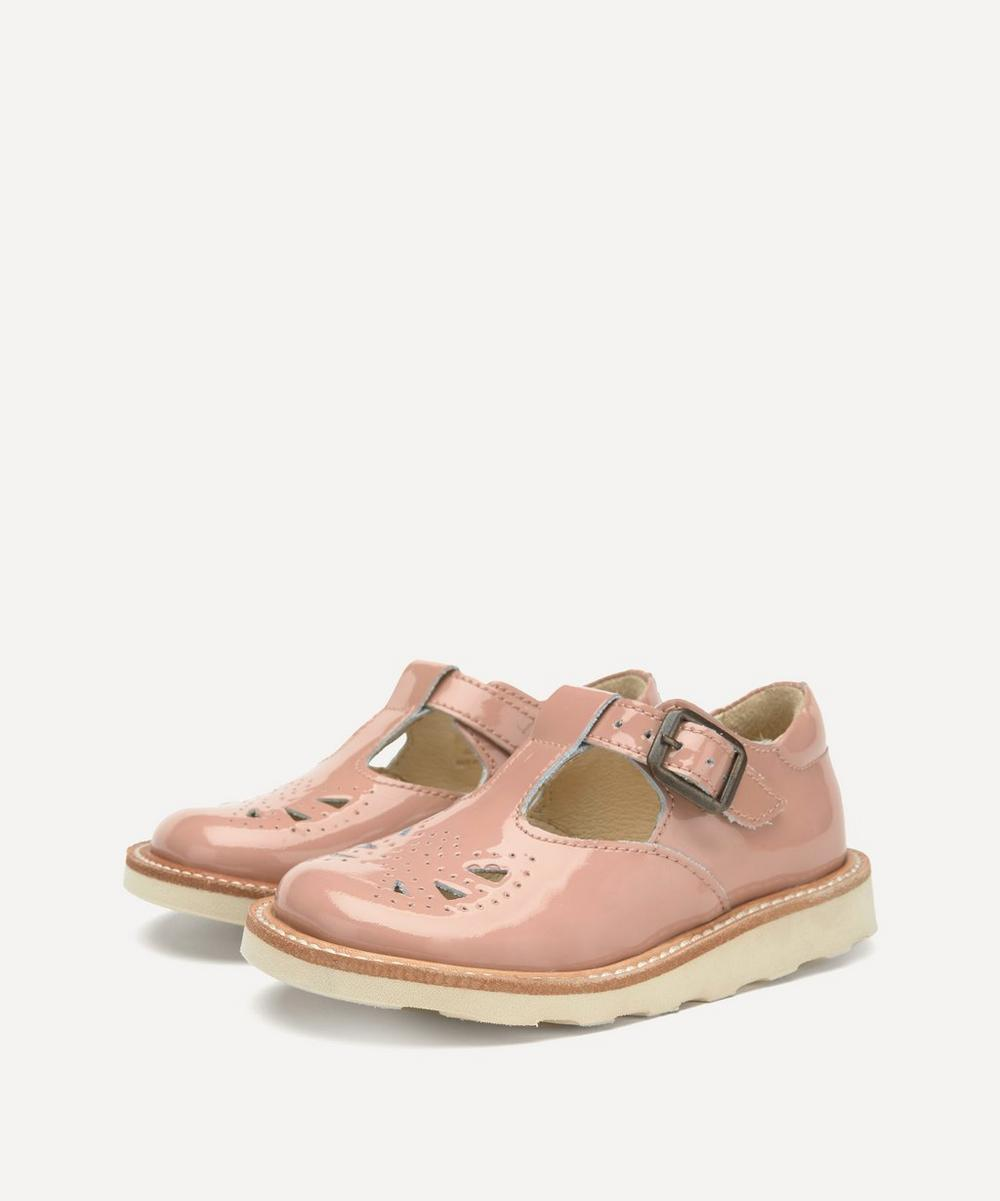 Young Soles - Rosie T-Bar Blush Patent Shoes Size 26-30