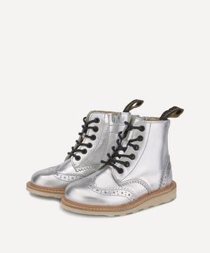 Sidney Silver Brogue Boots Size 24-25