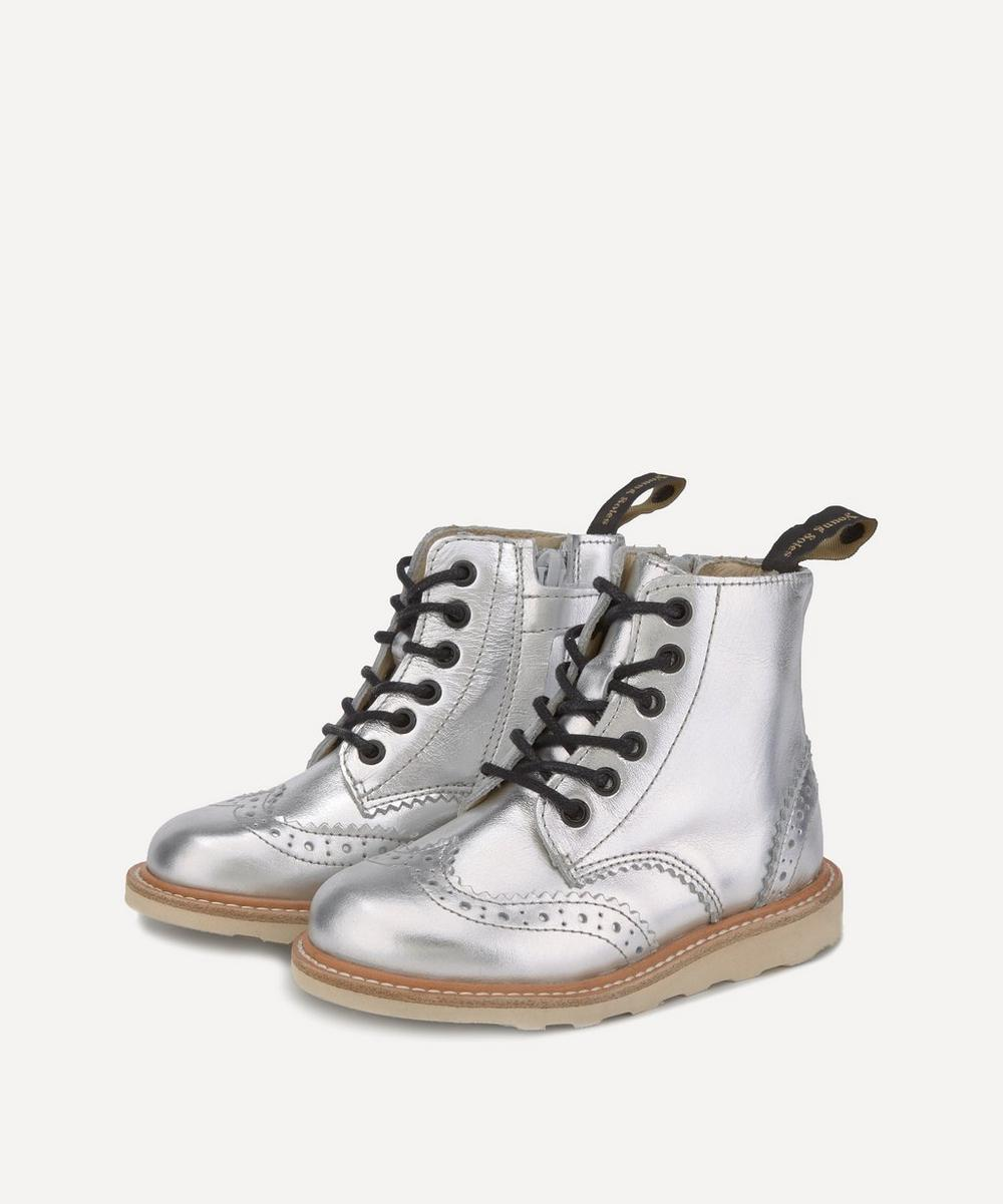 Young Soles - Sidney Silver Brogue Boots Size 26-30