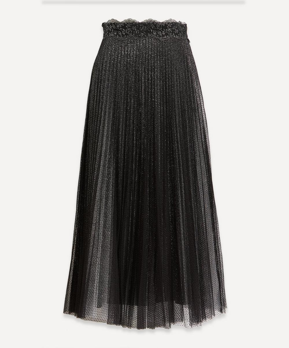 Christopher Kane - Glitter Tulle Pleated Skirt