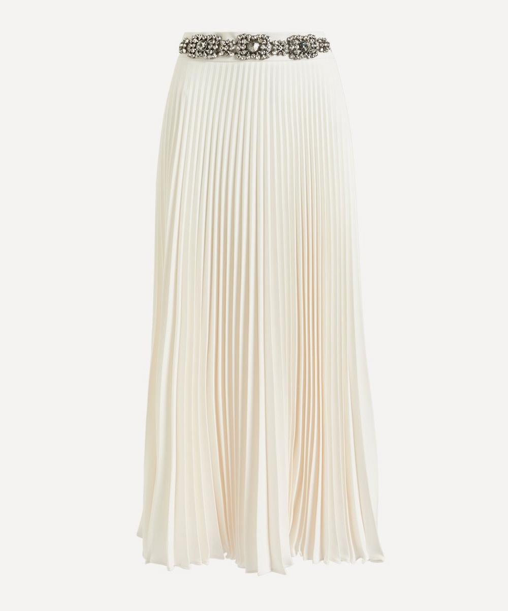 Christopher Kane - Jewel Belt Pleated Skirt