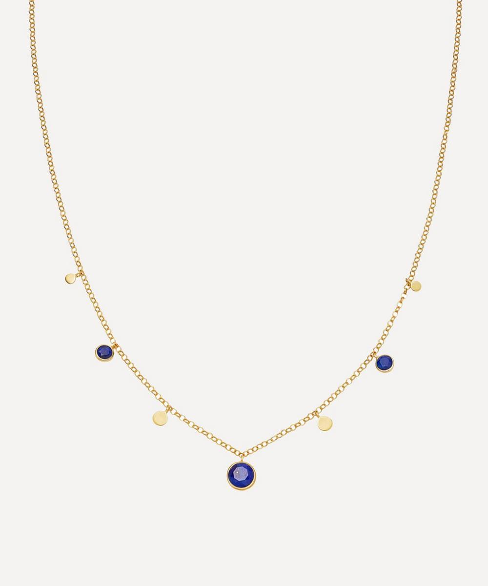 Astley Clarke - Gold Plated Vermeil Silver Stilla Droplet Lapis Lazuli Pendant Necklace