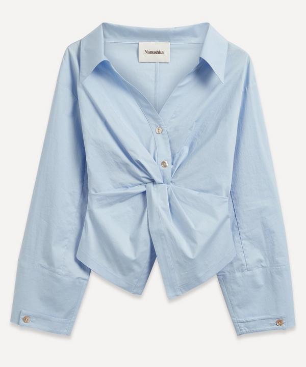 Nanushka - Idris Twist-Front Shirt