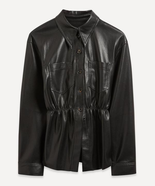 Nanushka - Thalita Ruched Vegan Leather Shirt