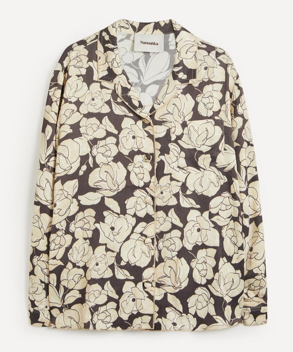 Nanushka - Oona Floral Print Satin Shirt