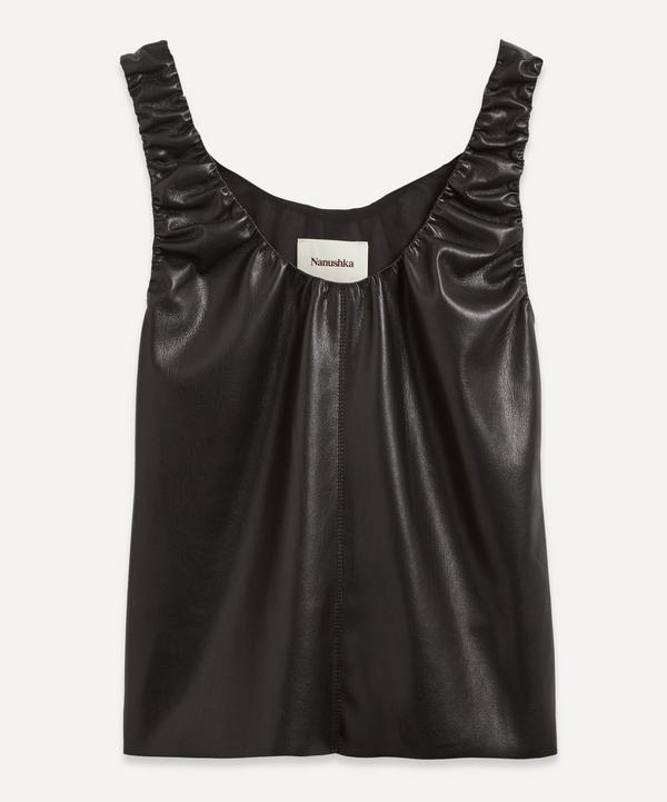 Nanushka - Yael Ruched Vegan Leather Top