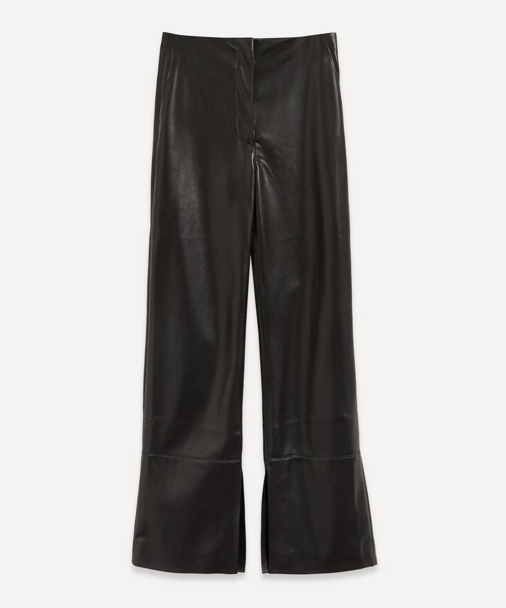 Nanushka - Rhyan Ruched Vegan Leather Trousers