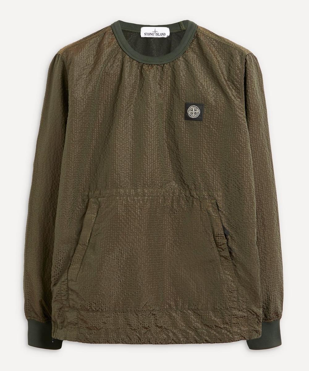 Stone Island - Nylon Seersucker Logo Patch Sweatshirt