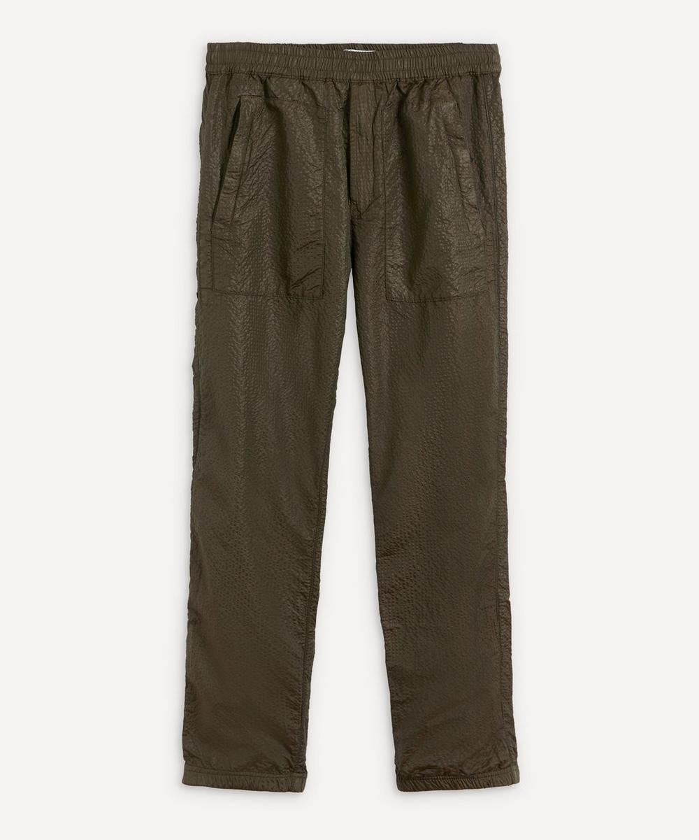 Stone Island - Nylon Seersucker Logo Patch Trousers