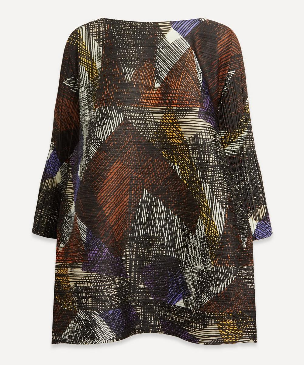 Pleats Please Issey Miyake - Andante Print A-Line Tunic Top