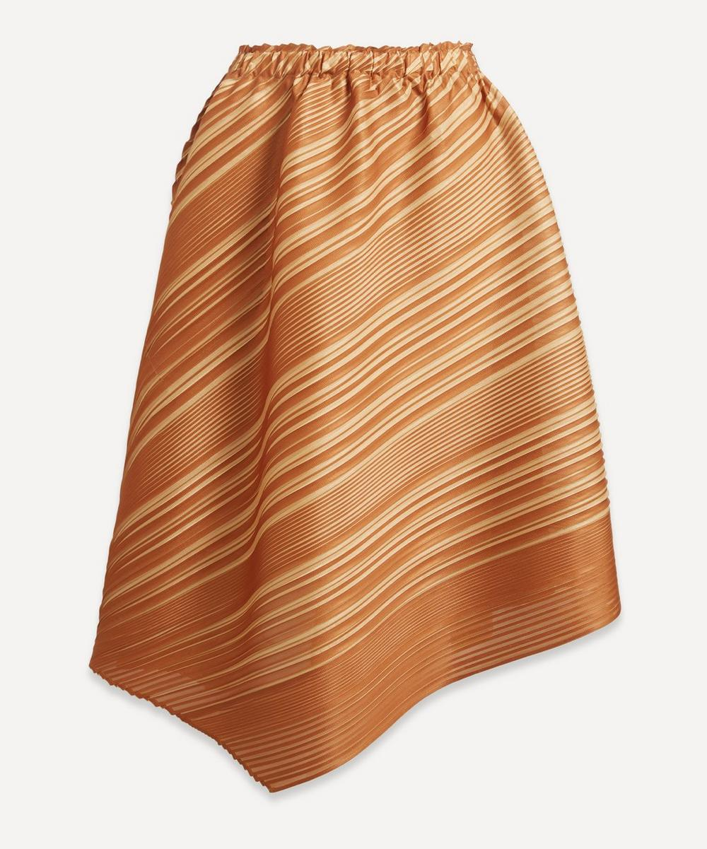 Pleats Please Issey Miyake - Two-Tone Pleated Skirt