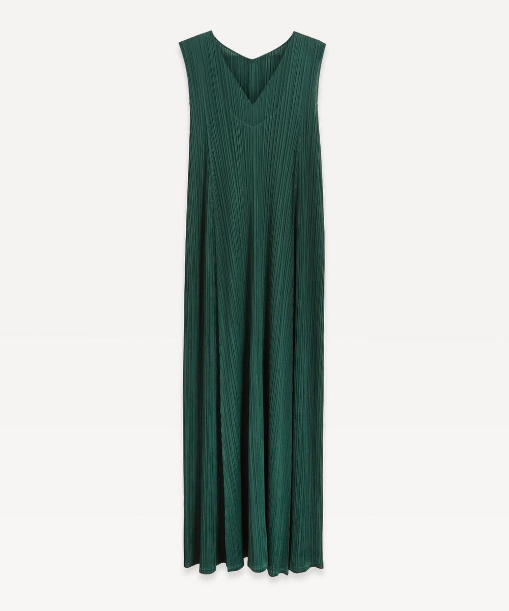 Pleats Please Issey Miyake - Sleeveless V-Neck Pleated Dress
