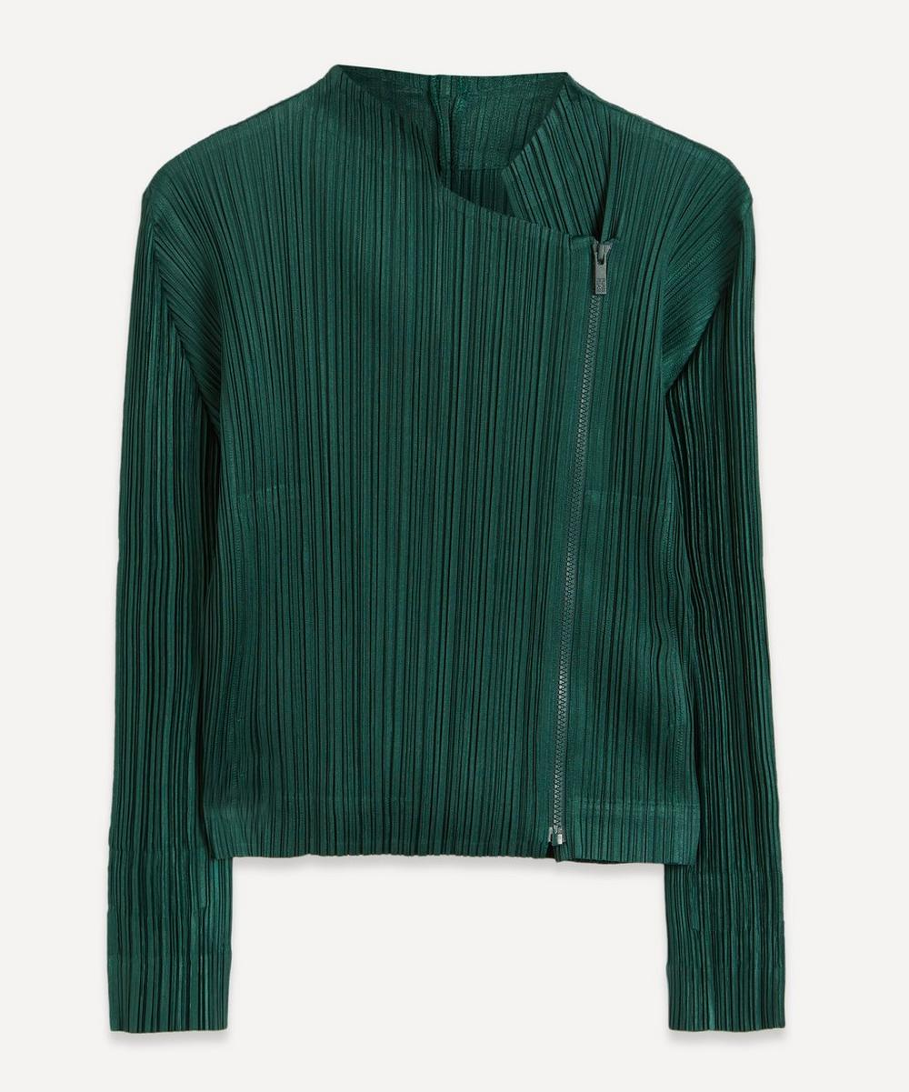 Pleats Please Issey Miyake - Short Zip-Up Jacket