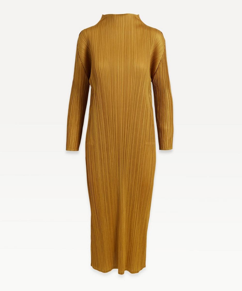 Pleats Please Issey Miyake - High-Neck Long-Sleeve Dress