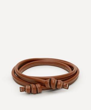 Thin Faux Leather Tie Belt