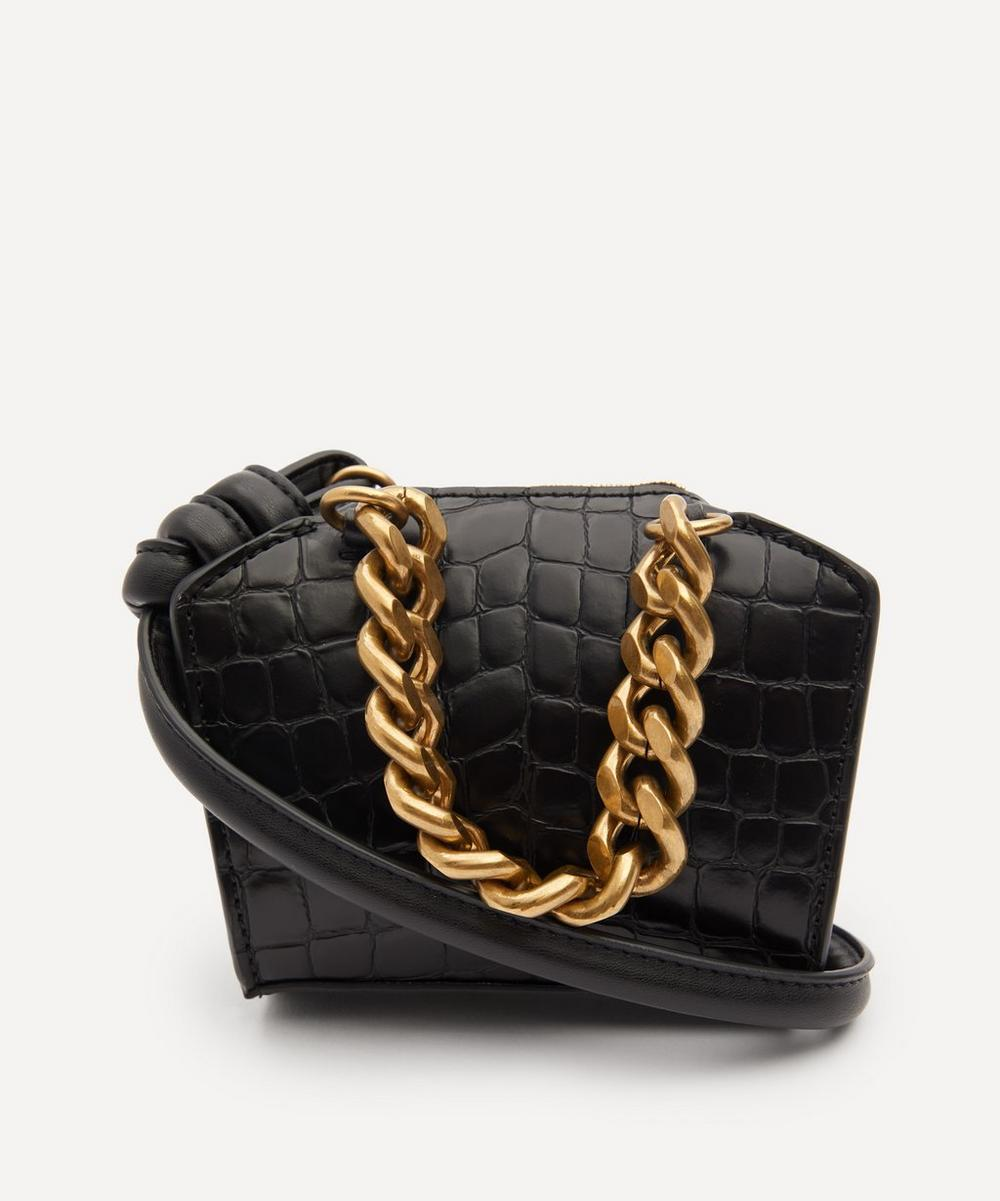 Stella McCartney - Croc-Effect Faux Leather Micro Cross-Body Bag