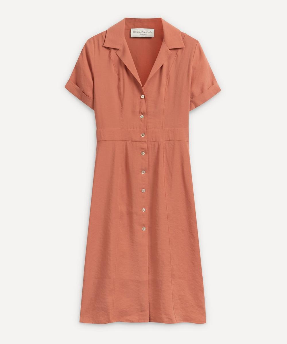 Officine Générale - Nora Buttoned Midi-Dress